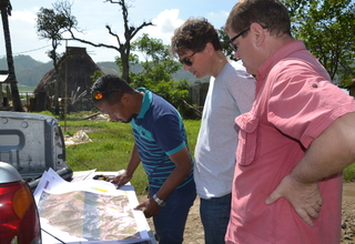 The team is reading the map of 2015 Census