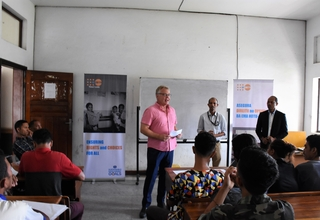 UNFPA Timor-Leste Country Representative at a seminar on SWOP 2019 at the National University of Timor-Leste